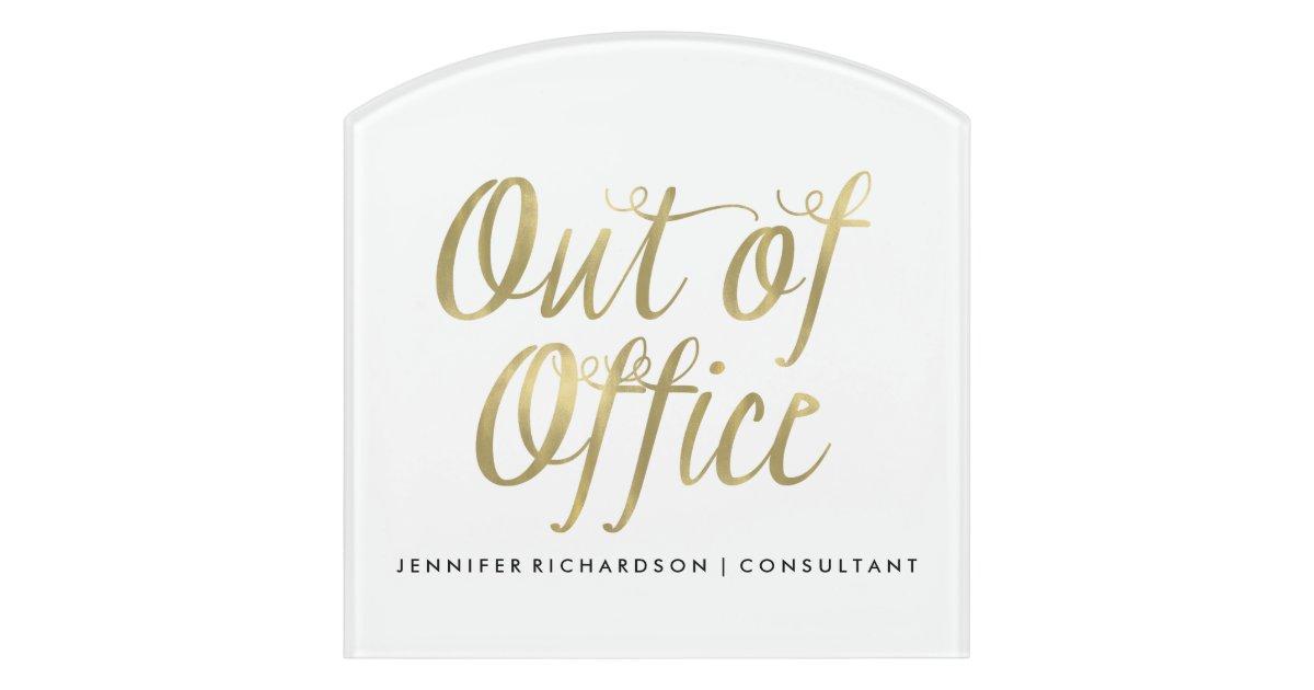 Office Door Out Of Office Door Sign