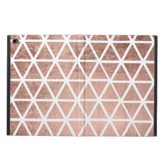 Trendy faux rose gold foil triangles pattern powis iPad air 2 case