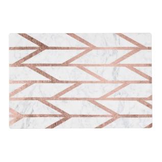 Trendy Faux Rose Gold Herringbone Chevron Pattern Placemat at Zazzle