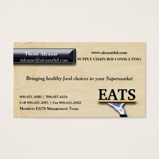 Trendy Faux Textured Paper Business Card