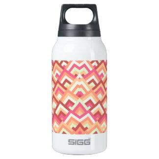 Trendy Feminine Zigzag Symmetric Peeks Pattern Insulated Water Bottle