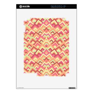 Trendy Feminine Zigzag Symmetric Peeks Pattern iPad 2 Skin