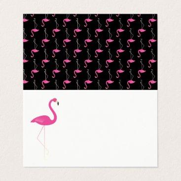 Beach Themed Trendy Flamingo Folded Place Cards