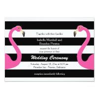 Trendy Flamingo Wedding Invitation