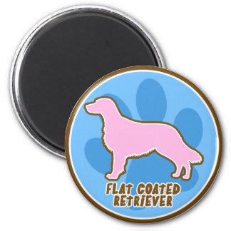 Trendy Flat Coated Retriever Refrigerator Magnet