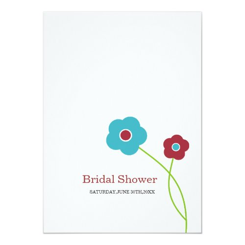 Trendy Floral Bridal Shower Invitations