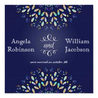 Trendy Floral Chalkboard Post Wedding Invitation