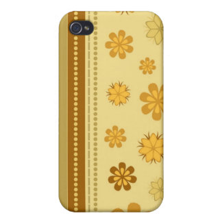 Trendy Floral Decor i iPhone 4 Case
