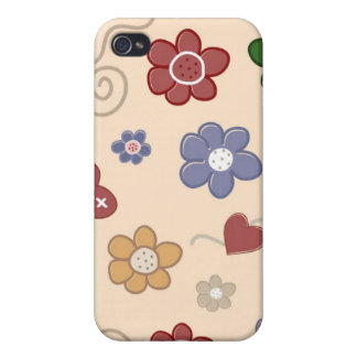 Trendy Floral Decor i iPhone 4 Cover