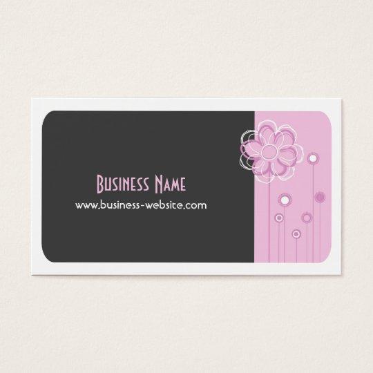 Trendy Floral Design Business Card