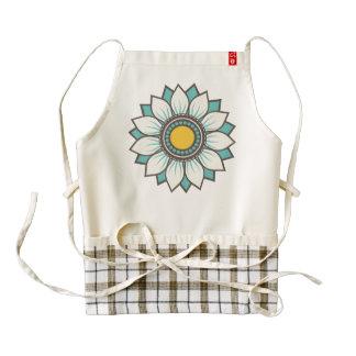 Trendy Floral Design Zazzle HEART Apron