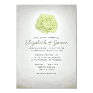 "Trendy Floral Ivory Wedding Invitations 5"" X 7"" Invitation Card"
