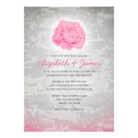 Trendy Floral Military Camo Wedding Invitations Invites
