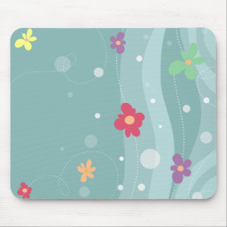 Trendy Floral Mousepad