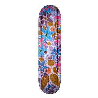 Trendy Floral Pattern #13 Skateboard