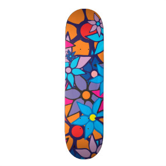 Trendy Floral Pattern #3 Skateboard