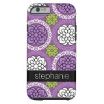 Trendy Floral Pattern - Orchid and Lime Green Tough iPhone 6 Case