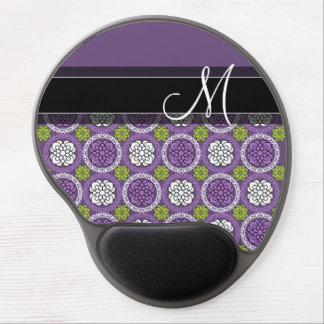 Trendy Floral Pattern - Orchid and Lime Green Gel Mouse Pad