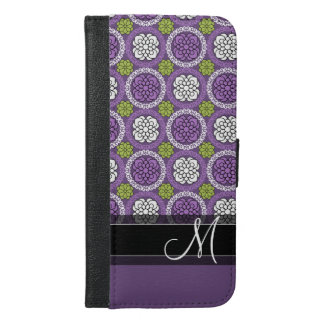 Trendy Floral Pattern - Orchid and Lime Green iPhone 6/6s Plus Wallet Case