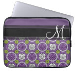 Trendy Floral Pattern - Orchid and Lime Green Laptop Computer Sleeves