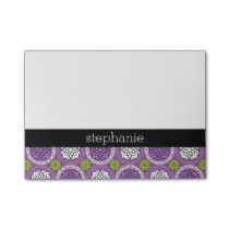 Trendy Floral Pattern - Orchid and Lime Green Post-it Notes