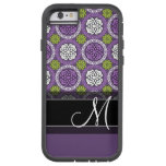 Trendy Floral Pattern - Orchid and Lime Green Tough Xtreme iPhone 6 Case