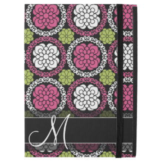Trendy Floral Pattern - Pink and Black iPad Pro Case