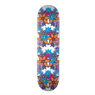 Trendy Floral Pattern Skateboard Deck