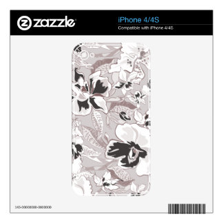 Trendy Flowers  Zazzle Skin Decal For iPhone 4