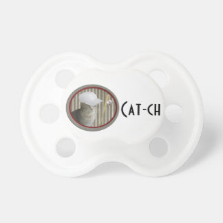 Trendy funny baseball cat cat-ch pacifier