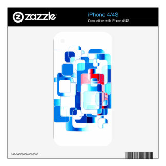 Trendy Geometric Collage RWB Decal For The iPhone 4