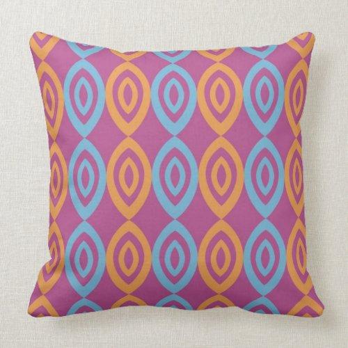 Trendy Geometric Pillows - Blue Orange Pink
