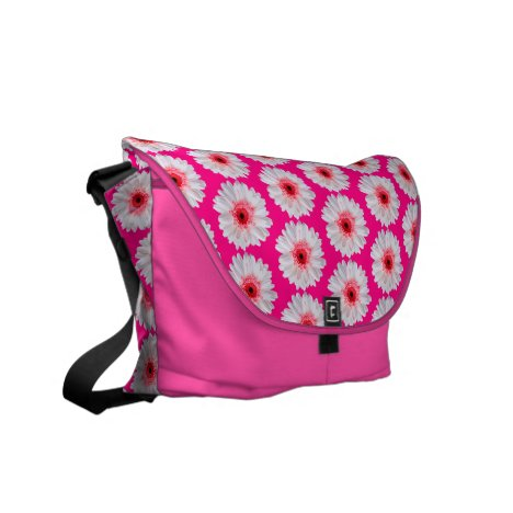 Trendy Gerbera Daisy Pattern fashionable Courier Bag