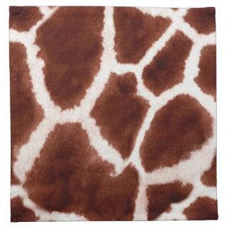 Trendy Giraffe Pattern Napkin