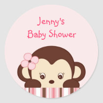 Trendy Girl Monkey Stickers Envelope Seals