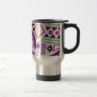 Trendy Girly Abstract Purple Pink Tribal Pattern Travel Mug