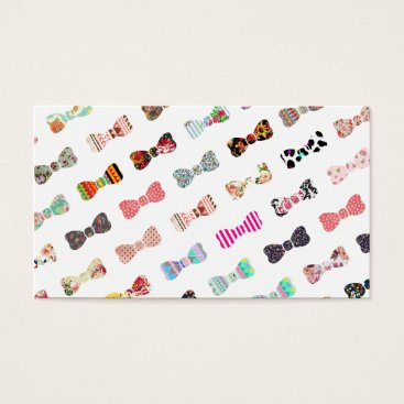 Aztec Themed Trendy Girly  Colorful Patterns Cute Bows Business Card