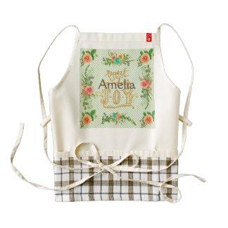trendy,girly,country,chrismas,pattern,shabby,chic, zazzle HEART apron
