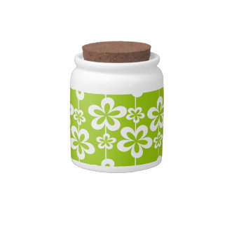 Trendy Girly Floral Pattern Candy Jars