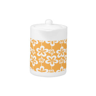 Trendy Girly Floral Pattern Teapot