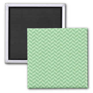 Trendy Girly Green Zig Zags Pattern Stripes 2 Inch Square Magnet