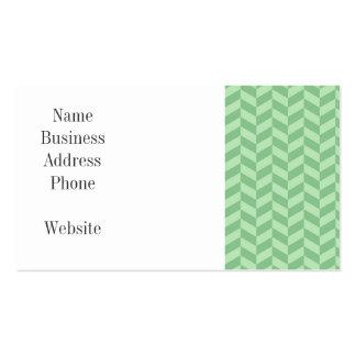 Trendy Girly Green Zig Zags Pattern Stripes Business Card