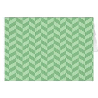 Trendy Girly Green Zig Zags Pattern Stripes Card