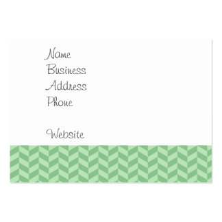 Trendy Girly Green Zig Zags Pattern Stripes Large Business Card