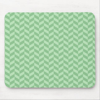 Trendy Girly Green Zig Zags Pattern Stripes Mouse Pad
