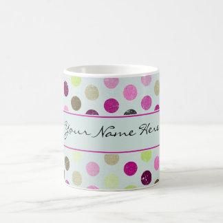 Trendy Girly Grunge Polka Dots Coffee Mug