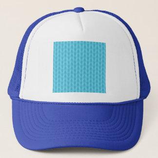 Trendy Girly Teal Zigzag Stripes Pattern Trucker Hat