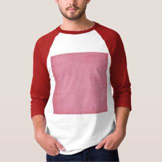Trendy Girly Vintage Pink Polka Dots Pattern T-shirt