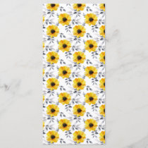 Trendy Girly Yellow Flowers Pattern