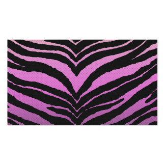 Trendy Girly Zebra Print Faded Pink to White Business Cards